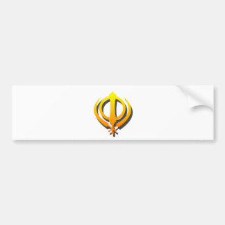 SikhKhanda Khalsa SikhismPunjabi Autoaufkleber