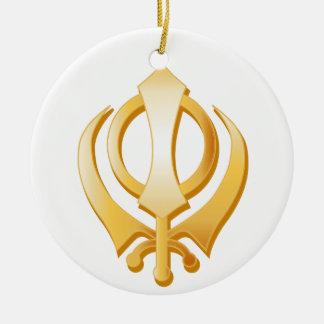 Sikhsymbol Keramik Ornament