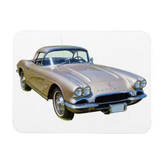 Silber-Chevrolet Corvette Sportauto 1962 Magnet