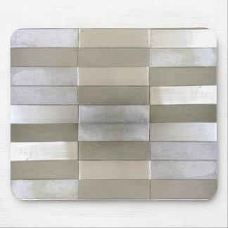 Silber deckte Mousepad mit Ziegeln