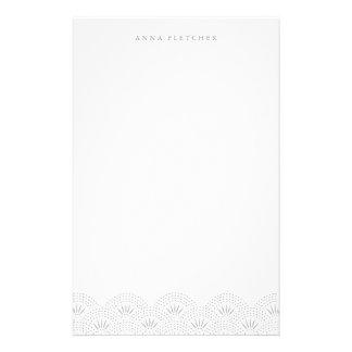 Silber - Deko Seigeiha personalisiertes Personalisiertes Büropapier