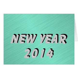 Silber des neuen Jahr-2014 Karte