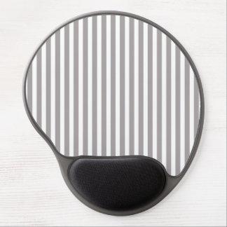 Silber-Distelcabana-Streifen-Muster Gel Mousepad
