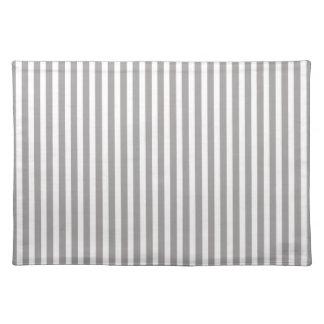 Silber-Distelcabana-Streifen-Muster Stofftischset