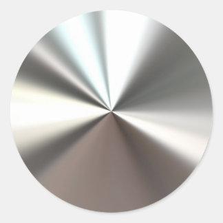 Silber-Explosions-Aufkleber Runder Aufkleber