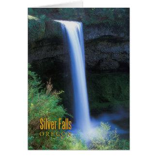 Silber-Fälle, Oregon Karte