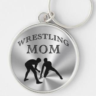 Silber farbige Wrestling-Mamma-Geschenke Keychains Schlüsselanhänger