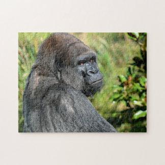Silber-hinterer Gorilla Puzzle