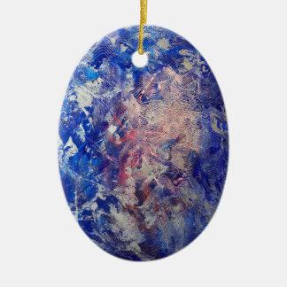 Silber-Lauf Ovales Keramik Ornament