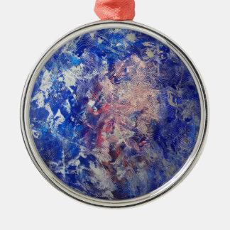 Silber-Lauf Rundes Silberfarbenes Ornament