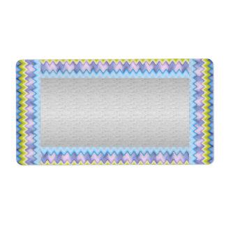 Silber mit blauer Schein-Grenzschablone