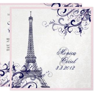 SILBER PixDezines Laausflug-Eiffels/paris/METALLIC Karte