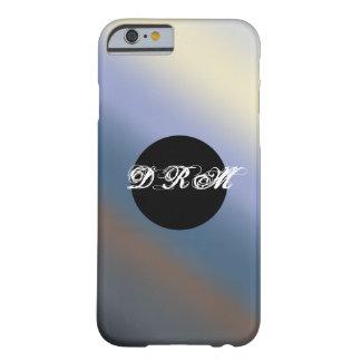 Silber/stehlen blauen Monogrammtelefonkasten Barely There iPhone 6 Hülle