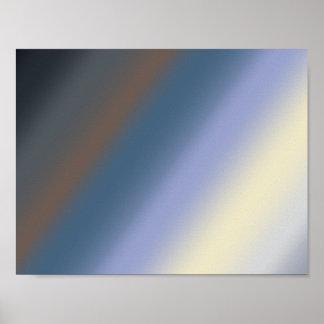 Silber/stehlen blaues Mischungsgrafikplakat Poster