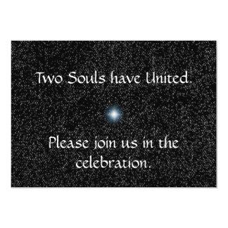 Silber-Sterne auf schwarzen Hochzeits-Einladungen 12,7 X 17,8 Cm Einladungskarte