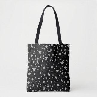 Silber-Sterne Tasche