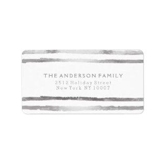 Silber stripes Adressen-Etikett Adressetiketten