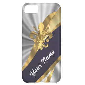 Silber u. GoldFleur Dy Lys iPhone 5C Hülle