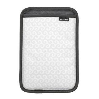 Silber-u. Weiß-Wellen - stilvoll u. Spaß-Muster iPad Mini Sleeve