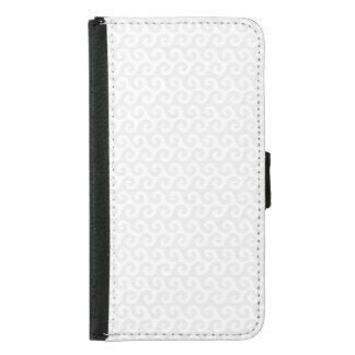 Silber-u. Weiß-Wellen - stilvoll u. Spaß-Muster Samsung Galaxy S5 Geldbeutel Hülle