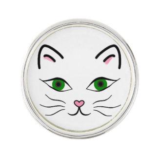 Silber überzogen ringsum Revers-Button - Anstecknadel