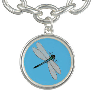 Silber überzogene Charme-Armband-Libelle Armband