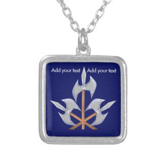 Silber überzogene Halskette drei gekreuzte