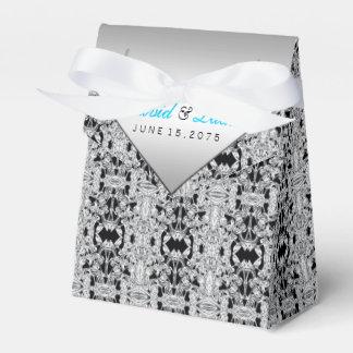 Silber und aquamarine blaue Hochzeit Geschenkkarton