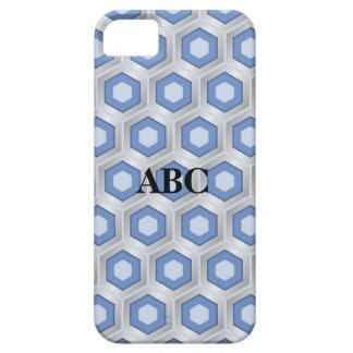 Silber und blauer mit Ziegeln gedeckter iPhone 5 Schutzhülle