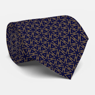 Silber und dunkelblaue geometrische PatternTie Personalisierte Krawatte