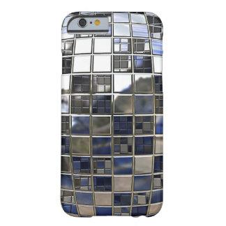 Silber und einige blaue Disco-Ball-Spiegel Barely There iPhone 6 Hülle