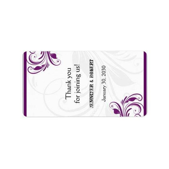 Silber und lila adressaufkleber