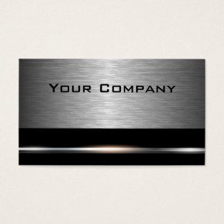 Silber und Schwarz-berufliche Geschäfts-Karte Visitenkarten