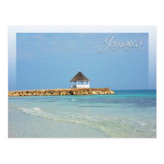 Silber versandet Strand, Trelawny, Jamaika Postkarte