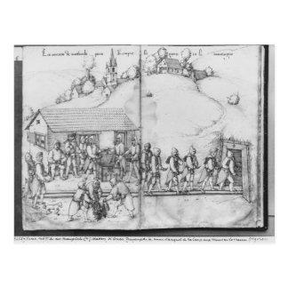 Silberbergwerk von La Croix-Zusatz-Bergwerken, Postkarte