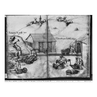 Silberbergwerk von La Croix-Zusatz-Bergwerken Postkarte