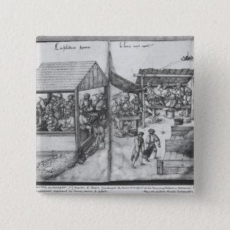 Silberbergwerk von La Croix-Zusatz-Bergwerken, Quadratischer Button 5,1 Cm