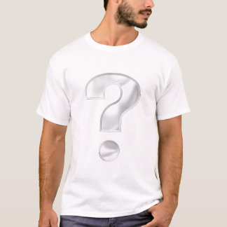 Silberfrage-Kennzeichen T-Shirt