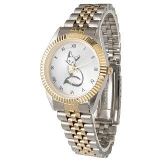 Silberfuchs-römische Ziffern Uhr