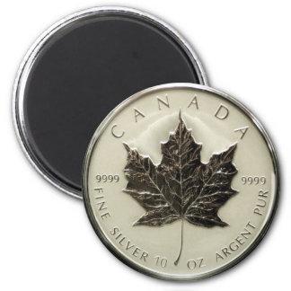 Silbermünze Kanadas 10oz Runder Magnet 5,1 Cm