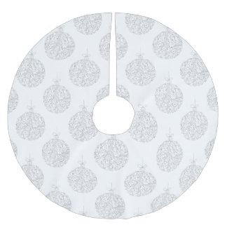 Silberne Bälle - Weihnachtsbaum-Rock Polyester Weihnachtsbaumdecke