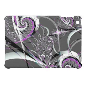 Silberne Band-abstrakte feine Kunst iPad Mini Hülle