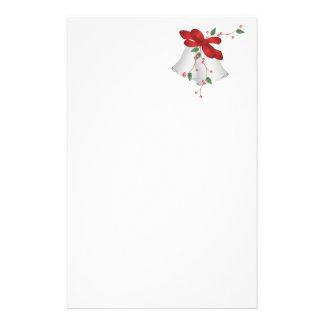 Silberne Bell und rotes Band Briefpapier