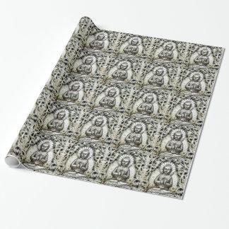 Silberne Buddha-Geschenk-Verpackung Einpackpapier