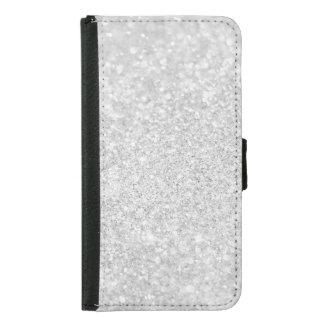 Silberne Diamant-Art Samsung Galaxy S5 Geldbeutel Hülle