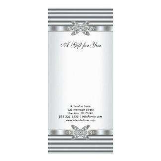 Silberne Diamant-Geschäfts-Geschenkgutscheine Individuelle Werbekarte
