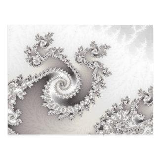 Silberne dreifache Rotations-Postkarte Postkarte