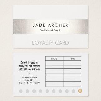 Silberne Durchschlags-Salon-Loyalitäts-Karte des Visitenkarte