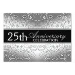 Silberne Eleganz-25. Jahrestags-Einladungen