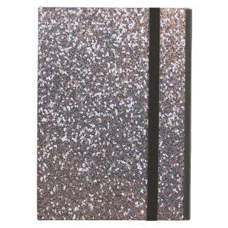 Silberne Glittergraphik des Imitats